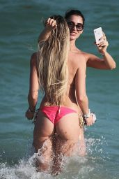 Francesca Bambilla and Livia Canallis Show off their bikini bodies on the beach in Miami
