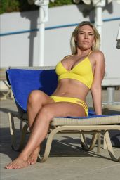 Frankie Essex Is seen in Cape Verde whilst enjoying a winter holiday