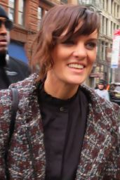 Frankie Shaw Arrives at Build Studios in New York City