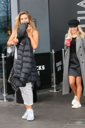 Gemma Atkinson and Mollie King seen leaving there hotel to go to the studio in London
