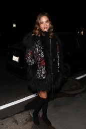 Georgie Flores Heads to a house party in Los Angeles