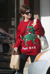 "Ginnifer Goodwin Steps out in a ""TREE REX"" Christmas sweater in Los Angeles"