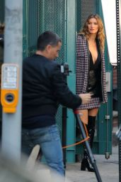 Gisele Bundchen Back to modeling for a photoshoot on the streets of Brooklyn