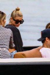 Hailey Baldwin Out for a boat ride in Miami