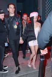Halsey and G-Eazy are seen leaving Avenue Nightclub together after a night out NYC