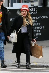 Hilary Duff and her boyfriend Matthew Koma hold hands and shop in Soho in New York City
