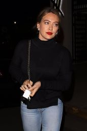Hilary Duff Is seen leaving the Balayage Hair Salon in Beverly Hill