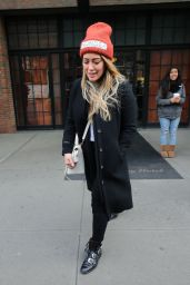 Hilary Duff Leaves her hotel in NYC
