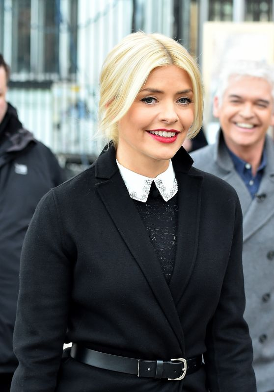 Holly Willoughby Outside the ITV Studios, London