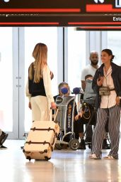 Irina Shayk On the set of a photoshoot at the airport in Miami
