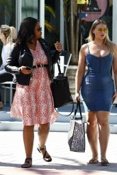 Iskra Lawrence Is seen out and about in Miami Beach with girl pals