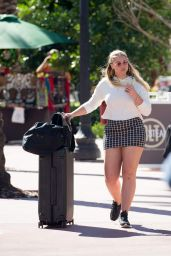 Iskra Lawrence Leaves her hotel in Miami