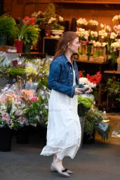 Isla Fisher At Bristol Farms in Los Angeles