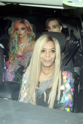 Jade Thirlwall, Leigh-Anne Pinnock and Jesy Nelson of Little Mix Celebrate Thirlwall`s Birthday at Patch East in London