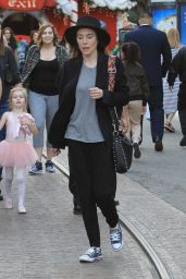 Jaime Murray Goes Christmas shopping at The Grove in West Hollywood