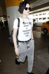 Jaimie Alexander Arrives at the LAX International Airport in Los Angeles