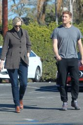 Jane Lynch Out for shopping with a mystery man in Hollywood