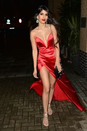 Jasmin Walia Arrives for her record label Christmas party in London