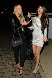 Jasmin Walia Seen arriving at the King William pub in Chigwell, Essex