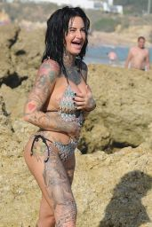 Jemma Lucy Is seen on holiday in Gran Canaria