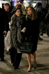 """Jennifer Lopez and Vanessa Hudgins film scenes for """"Second Act"""""""