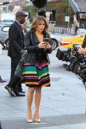 Jennifer Lopez On the set of Second Act in New York