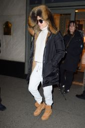 Jennifer Lopez Shops at Hermes after having lunch at Nellos in NYC