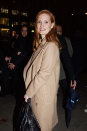 Jessica Chastain Leaving the Royal Monceau Hotel in Paris, France
