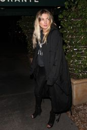 Jessica Hart Is all smiles as she grabs dinner at Madeo Restaurant in West Hollywood