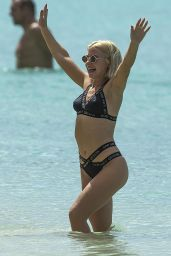 Jessica Woodley Is spotted on the beach in Barbados