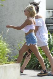 Jessica Woodley Is spotted out and about in Barbados