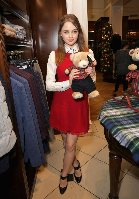 Joey King At Brooks Brothers holiday celebration with St Jude Children