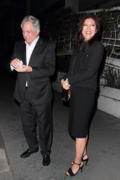 Julie Chen and husband CBS Chairman Les Moonves enjoy a night out at Madeo restaurant