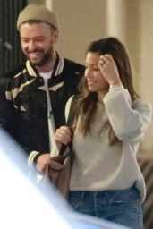 Justin Timberlake and Jessica Biel are seen leaving an office building together, Brentwood