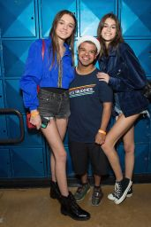 Kaia Gerber & Charlotte Lawrence Attend Bowling For Buddies at PINZ Bowling & Entertainment Center in Studio City