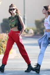 Kaia Gerber Leaves Ollo restaurant in Malibu after having breakfast with a friend in Los Angeles
