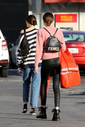 Kaia Gerber Shops at Urban Outfitters with a girlfriend in Malibu