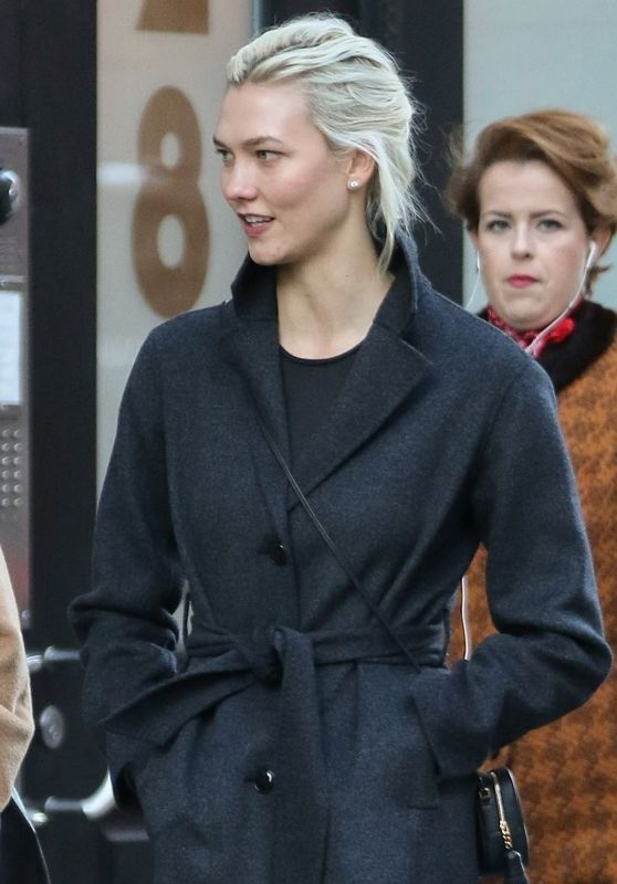 Karlie Kloss Keeps bundled up after brunch in Soho