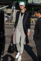 Karlie Kloss Spotted at Heathrow Airport in London, UK