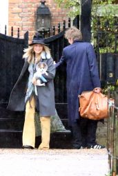 Kate Moss Is seen leaving North London house, UK