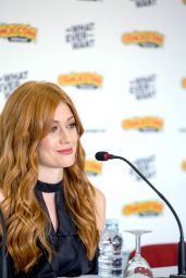 Katherine McNamara At Press Conference at Comic Con Portugal