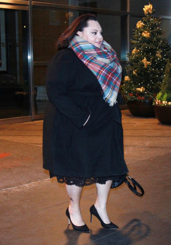 Keala Settle Seen in town promoting her new film The Greatest Showman in New York City