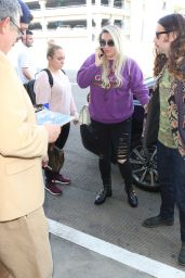 Kesha Seen at the LAX airport in Los Angeles