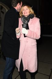 Kim Cattrall Seen at Brilliant is Beautiful Benefitting Artist for Peace and Justice