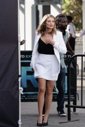 Kim Matula Was seen in Los Angeles while filming an episode of EXTRA TV live