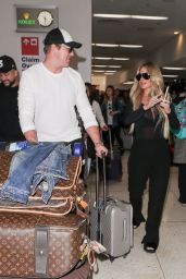 Kim Zolciak Arrives at LAX Airport in Los Angeles