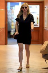 Kirsten Dunst Rocks a cute black dress to lunch in Beverly Hills