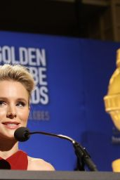 Kristen Bell At 75th Annual Golden Globe Award Nominations in Beverly Hills