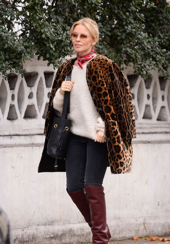 Kylie Minogue Out and about in London