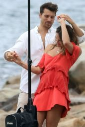 Laura Byrne Poses for a Christmas photo shoot at Malabar Beach in Sydney